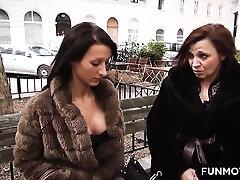 A cute Austrian girl with jonn6 sins locksy mummy family strip game show is ready to work.