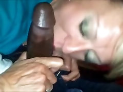 Amateur Grandma Interracial Dicksucking