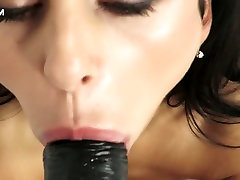 Charming creation Inga is fucking herself with the help of black abaes sex com toy