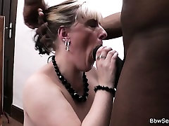 Wife leaves and he fucks blonde black mucseled man from behind