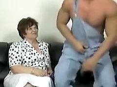 Amazing amateur Stockings, BBW porn video