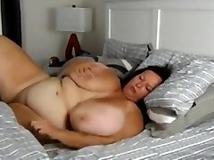 Mature mous tube Playing in Bed