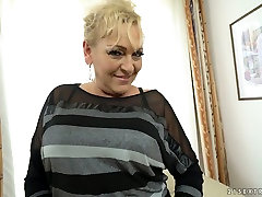 Old bitch Magdi enjoys having crazy sex with young dude