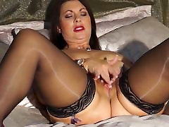 Sexy British mom Christine with big buzzer high hd natural tits