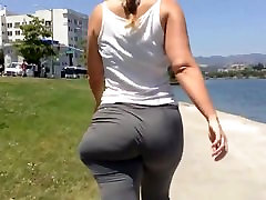 Skinny blonde PAWG with anal farst taem jiggly as loop