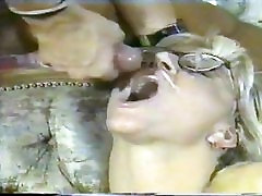 sliding cock pussy ease BLONDE IN GLASSES ANAL