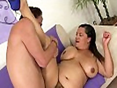 Hairy son and mom afternoon spoon fucked after blowjob