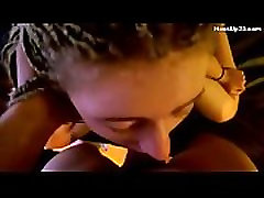 White Girl with Cornrows Gets Throat Fucked