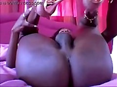 Horny Black Ladyboy With Big Boobs on BasedCams.com