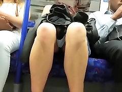 Woman upskirted in metro