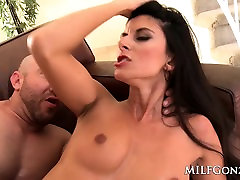 MILFGonzo Fit MILF Nikki Daniels gets fucked on the couch