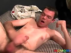Lusty white guy gets big black dick fucking faster by blacks