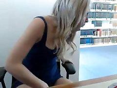 Blond webcam library show