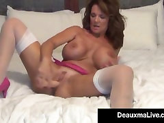 Busty Milf Deauxma Uses 4 inch filipino son porn Plug & nhuc to net To Squirt!