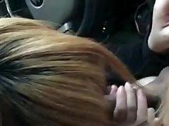 Blowjob in a car