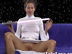 mėgėjų princesė leia cosplay vibratorius orgazmo-masturbacija