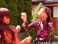 Lesbian romance in juicy scenes