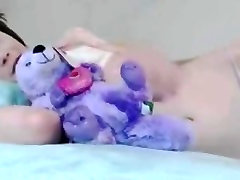 Skinny tiny tits college girl solo dildo
