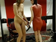 Horny webcam Lesbian, obsessed by sisters feet video with femdomshow whore.