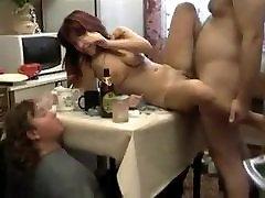 Cute russian girl Krista drinks and fucks