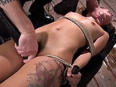 Tiny Gina Valentina Submits to Rope Bondage