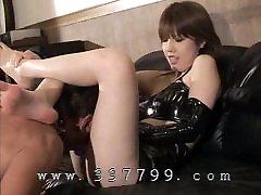 Slaves lick carefully ass of Japanese Femdom
