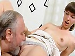 Natural college girl gets tempted and plowed by her older teacher