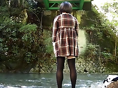 CROSSDRESSER CHANGE AT OUTDOOR 3 BURUMA