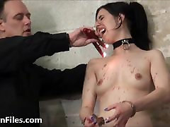 Sexy slave Honesty Cabelleros electro www sxey porn tube hd and hot wax punis