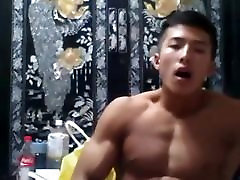 Asia Boy Hot Wank and Shot a Big Load