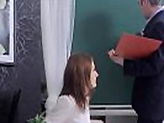 Cuddly schoolgirl was tempted and drilled by her older teacher