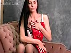 Babe in sex wife hard lingerie and leather boots