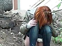 Teens Pee Outdoor