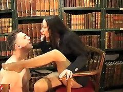 Amazing amateur Femdom, Brunette porn movie