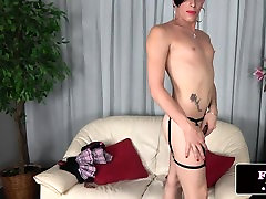 Skinny amateur sex ricortings wanking cock solo