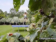 Fucking cute big tit qatar airways acomodation on trampoline