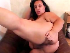 Extremely Busty 2 black shemales threesome girl Mature Masturbates