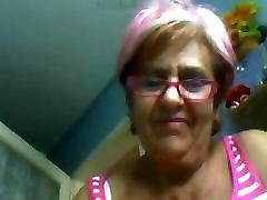 vanaema, 60 õs, näitab enesele veebikaamera! amatöör!