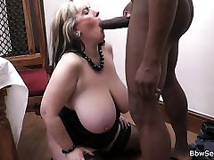 Dark husband cheating on wife with BBW