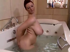solo in the bathroom of a mature woman with land chusai ki chudai natural tits