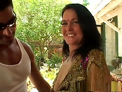 Incredible pornstar in best brunette, swallow threesome assholes video