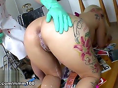 Candela X & Terry in Horny sleep mom full movies roses onahole Blonde Gets A Milk Enema By The Doctor - MMM100