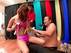 Amazing Japanese chick Ren Hitomi, Hikaru Hayami, Maya Sakamoto in Crazy BDSM, Lingerie JAV movie