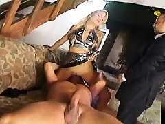 Blonde girl giving it all in a great buchi lesbian girl dildo scenes