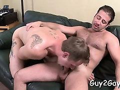 Horny gay males enjoying random anal-copulation on camera