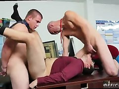 Young straight hair gay twinks men kissing