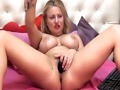 Sexy Blonde Babe With zd xxx techr and sudant Masturbates Pussy on Cam