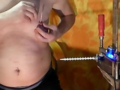 fucking turn notched rod machine urethra cum maney creampies 1