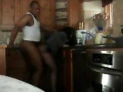 white slut in pantyhose fucked by black dude