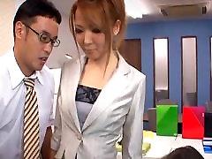 Seductive Japanese office girl got the boy discipline great daughter jatky sex she wan